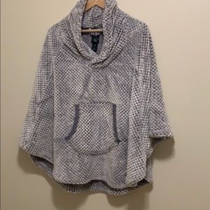 Ultra Cozy Gray Laura Ashley Poncho